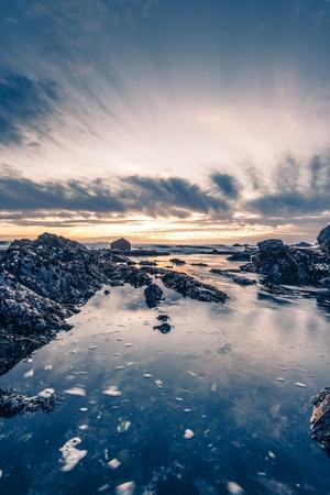 big sur: Scenic Rocky Ocean Beach Sunset. Big Sur, California, United States.