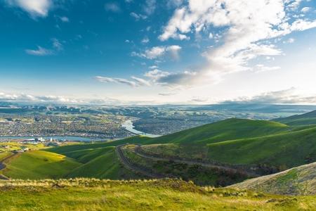 Clarkston Washington and Lewiston Idaho Border Cities. United States. Standard-Bild