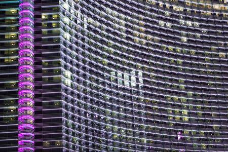 modern architecture: Glassy Architecture at Night. Glassy Modern Building