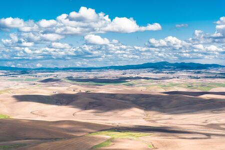 washington landscape: Step Toe Scenic Landscape. Eastern Washington State Nature Wonder. Stock Photo