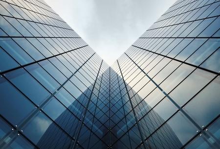 현대 유리 아키텍처 개념 그림. 유리 타워.