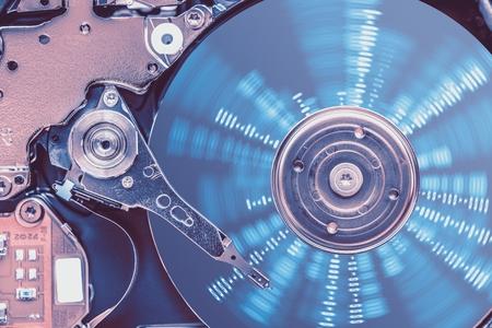 disco duro: Concepto de protección de datos del disco duro. Unidad de disco duro Disco Cerca Fotos.