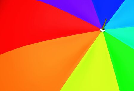 rainbow umbrella: Colorful Umbrella Closeup Illustration. Rainbow Umbrella Background.