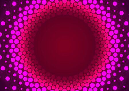orbital: Pink Particles Orbit Abstract Background Illustration. Stock Photo