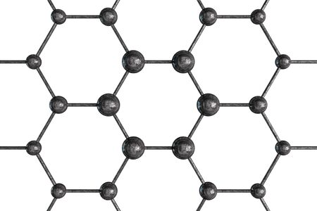 chemic: Molecular Structure Isolated on White. Science and Technology Illustration. Stock Photo