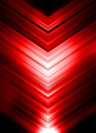 red arrows: Red Glowing Arrows Abstract Background. Vertical Illustration.