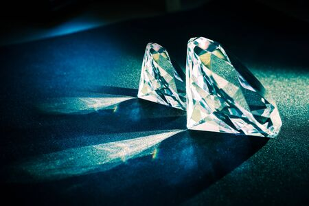 Two Large Diamonds. Diamond Jewelry Theme.