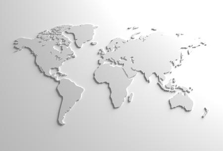 Elegant Gray Global 3D Map Background Illustration Stock Photo