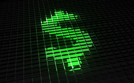 mode: US Dollar Symbol in Digital Mode. Financial Concept Illustration.