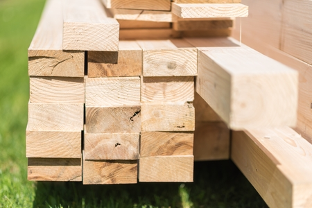 Home Construction Wood Elements Closeup Photo.