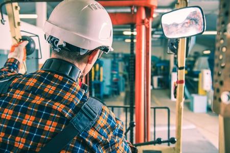 Industrial Heavy Duty Equipment. Forklift Operator. Industrial