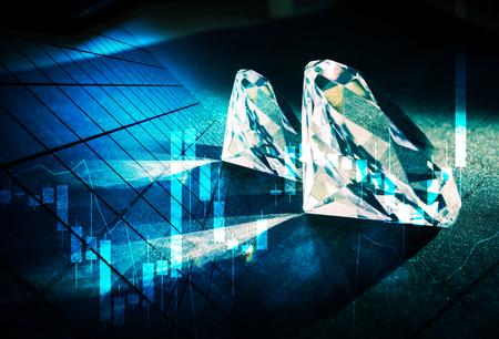 flashy: Diamonds market concept