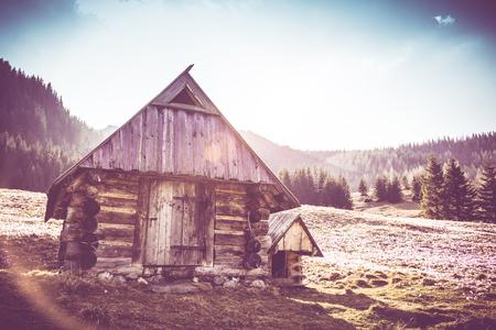 saalfelden: Old Wooden Mountain Cabin near the forest in Tatra Mountains, Poland.