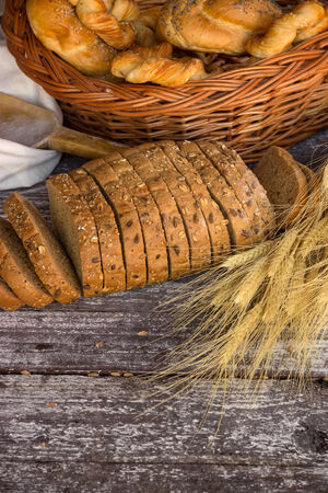 Variety of bakery products photo