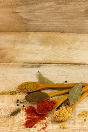 food additives: Aromatic ingredients and natural food additives. Stock Photo