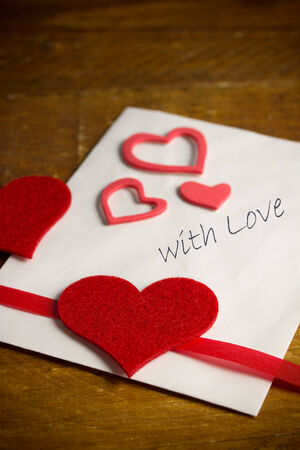 fillings: valentines day greeting letter Stock Photo