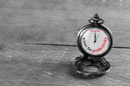 Now is the time for productivity Standard-Bild
