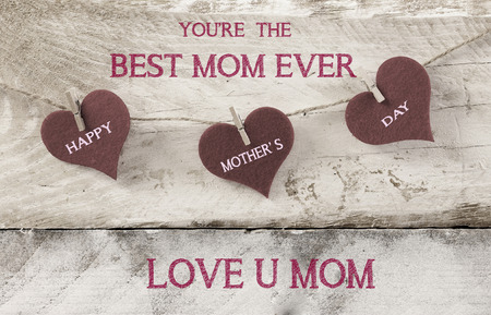 editable sign: best mom ever, mother Stock Photo