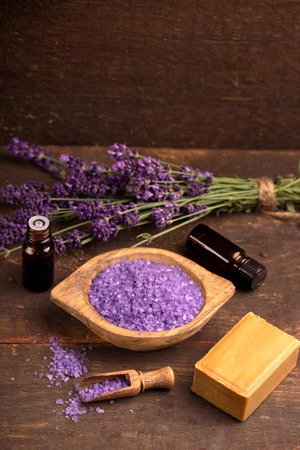 basic care: natural lavender products with lavender flower