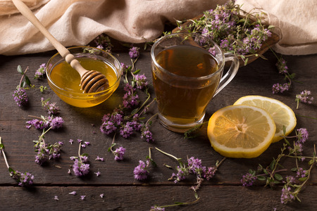thymus vulgaris - herb used as alternative medicine against of cold, cough and inflamations