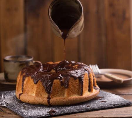 chocolate cake kuglof dessertsweet food Standard-Bild