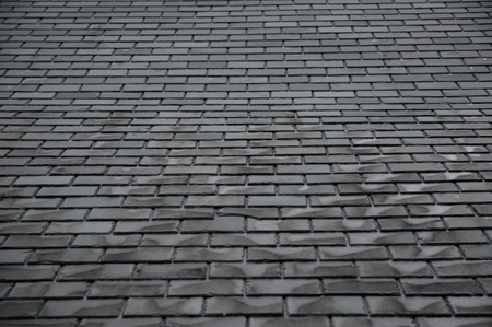 slate roof:  Tiles                                Stock Photo