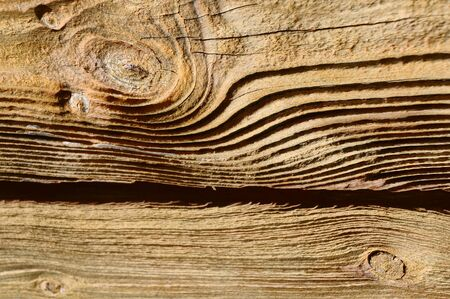 close up of some textured and weathered wooden planks