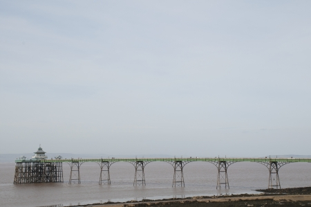 The pier at Clevedon in Somerset, England  Stock Photo