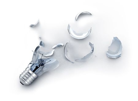 pices: broken light bulb Stock Photo