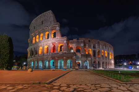 Rome, Italy. The Colosseum or Coliseum at night