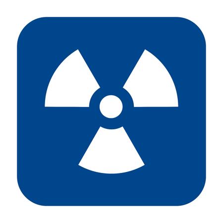 Icône du design plat monochrome de vecteur de radiographie industrielle. Symbole de radiographie isolé bleu. Vecteurs