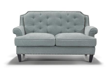tela blanca: sof� Mobiliario aisladas sobre fondo blanco