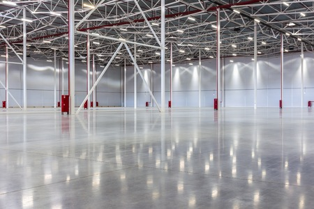 empty warehouse: New Large modern empty warehouse Stock Photo