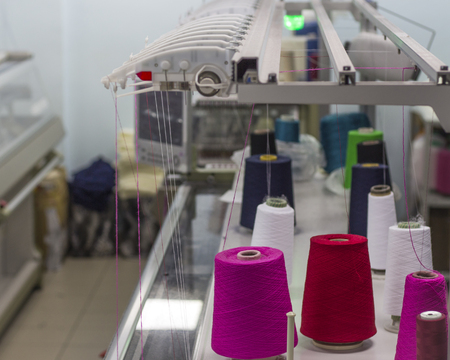 knitting industry workshop for the production of knitted garments.