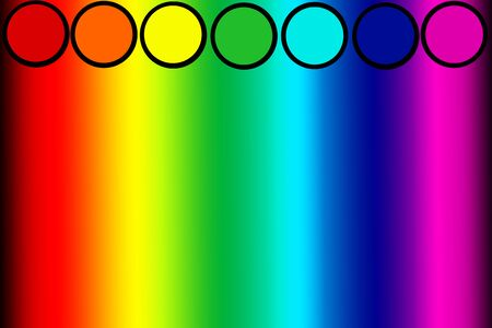 seven colors of chakras, colors and energy of the human aura in the form of parallel lines.