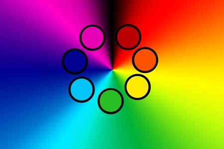 the seven colors of the chakras, the color and energy of the human aura.