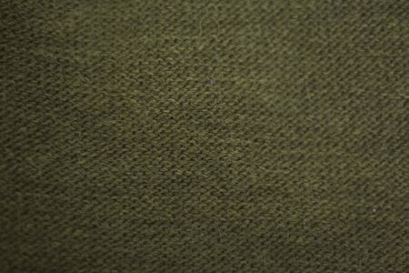texture of green wool knitted fabric as background.