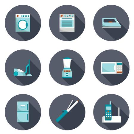 slow food: Set di icone di elettrodomestici per la progettazione