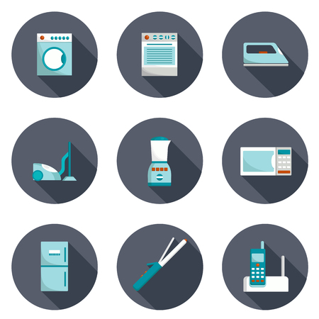 home appliances: Set of home appliances icons for your design Illustration