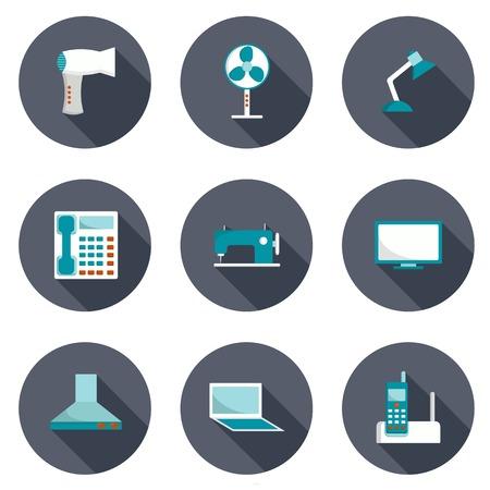 home appliances: Conjunto de electrodom�sticos iconos para su dise�o