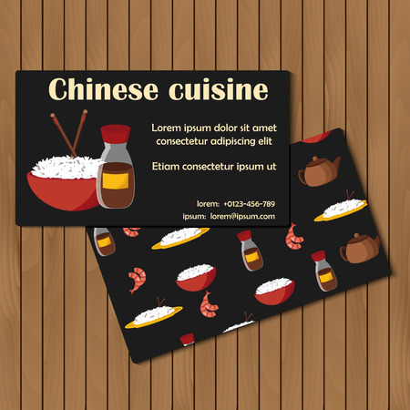 Template for card or booklet on chinese cuisine theme for your design Vector