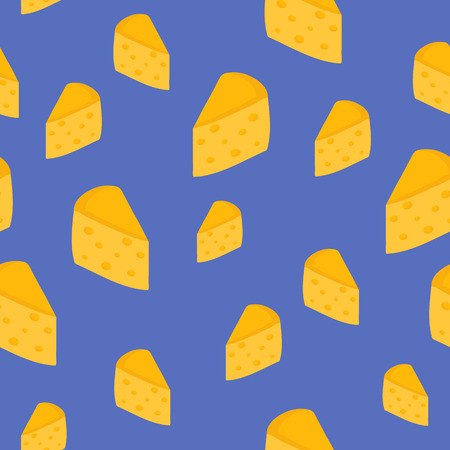 Seamless background with cheese for your design Vector