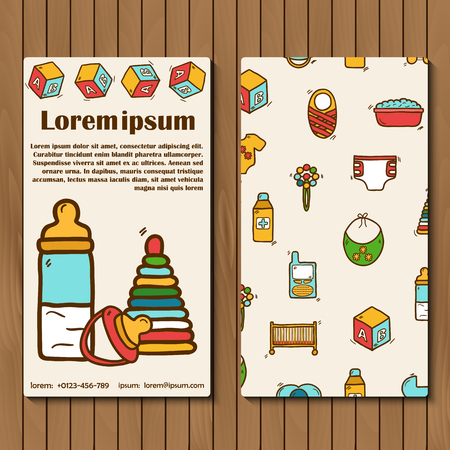 baby care: Template for booket, flyer or card on baby care theme for your design
