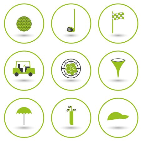 Set of golf icons for your design Vector