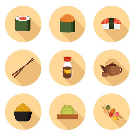 Set Di Icone Dei Cartoni Animati Con Gli Oggetti Della Cucina ...