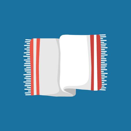 Cute cartoon towel for your design Vector Illustration