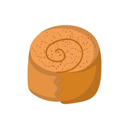 sweet bun: illustration with isolated cartoon sweet bun icon.