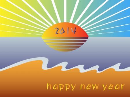 hopeful: happy new year 2014 Illustration
