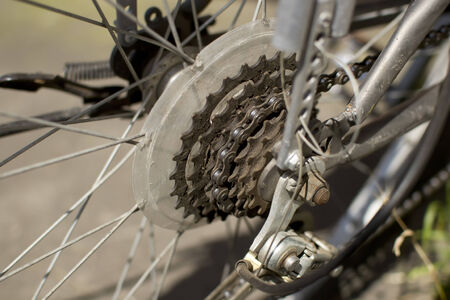 sprocket: Sprocket  bicycle wheel with chain