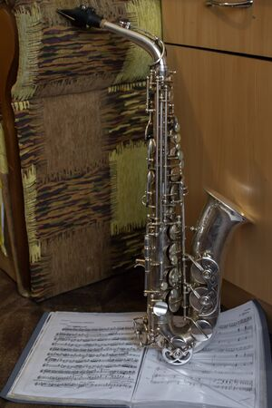 music book: Saxophone and music book